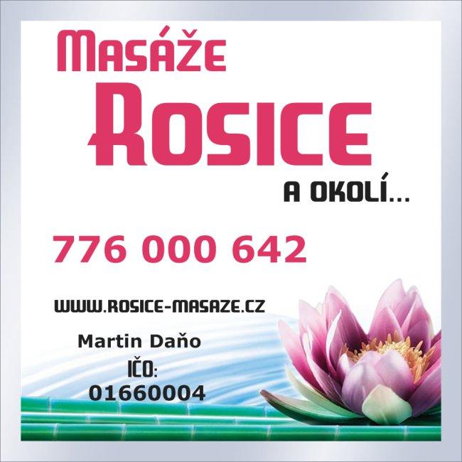 Masáže v Rosicích a okolí